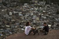 Fabrizio (DoP) with his cameraman Marco,Tsemo Maitreya Temple, LEH