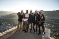 Italian crew on Tsemo Maitreya Temple, LEH