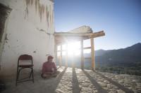 Monk,Tsemo Maitreya Temple, LEH