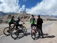 Stakna Gompa, monastery, near LEH, director with riders