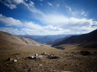 View from Warila pass where we have lunch 4500m