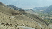 View from lower part of Khardung la 4000m aprox. to Leh